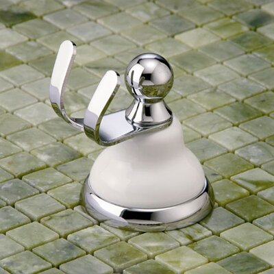 Gatco Petite Franciscan Twin Robe Hook in Chrome