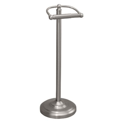 Gatco bath accessories free standing toilet paper holder reviews wayfair - Brushed nickel standing toilet paper holder ...