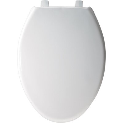 Bemis Elongated Solid Plastic Toilet Seat with STA-TITE and DuraGuard