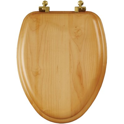 Natural Reflections Wood Veneer Elongated Toilet Seat
