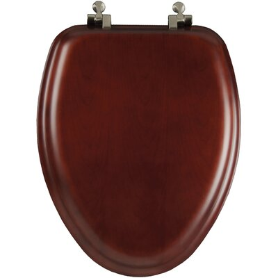 Comfort Seats Decorative Wood Elongated Toilet Seat