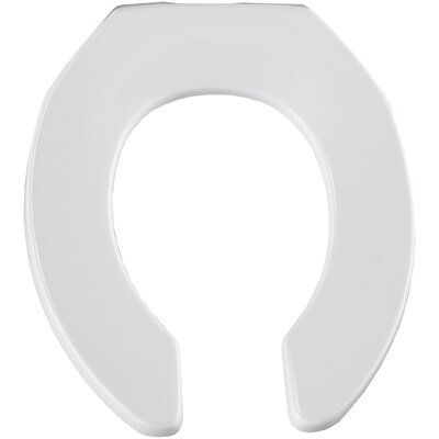 Extra Heavy Weight Plastic Commercial Open Front Round Toilet Seat