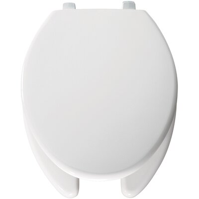 Bemis Open Front Solid Plastic Elongated Toilet Seat