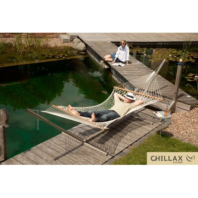 Double Cotton Hammock with Timber Spreader Bar