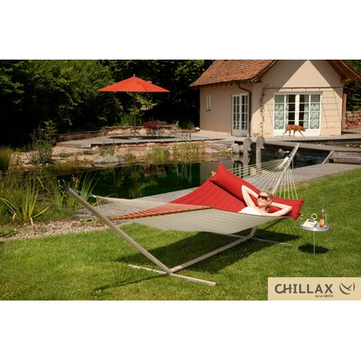 Coolaroo Double Hammock with Timber Spreader Bar