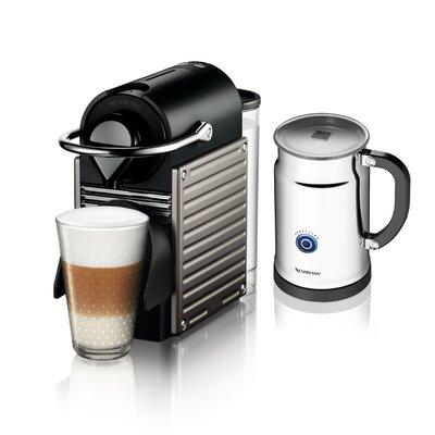 Nespresso Pixie Espresso Maker with Aeroccino Plus Milk Frother Bundle