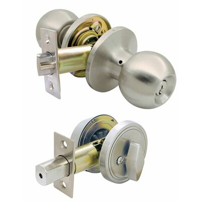 Ultra Hardware Lawn & Garden Single Cylinder Deadbolt and Entry Combo Lock Set
