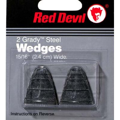 Red Devil 2 Pack Size 10 Grady™ Steel Handle Wedges 8061