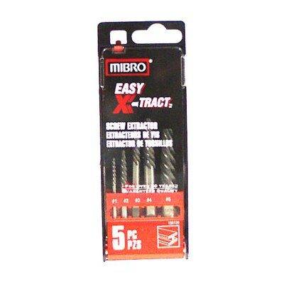 Mibro 5 Piece SetSpiral Flute Screw Extractors 155120