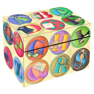 ABC Circles Photo Storage Box