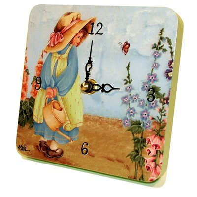 Home and Garden Afternoon Gardening Tiny Times Clock