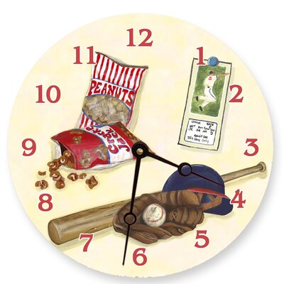 Lexington Studios Baseball Decorative Wall Clock