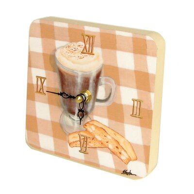 Home and Garden Cappuccino Tiny Times Clock