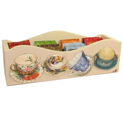 Tea Cups Caddy with Dividers