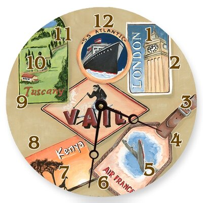 Lexington Studios Travel and Leisure Round Clock