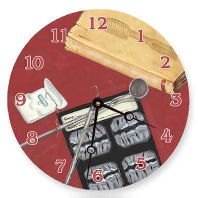 Dental Details Round Clock
