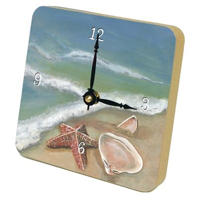 Lexington Studios Ocean's Shells Beach Tiny Times Desk Clock