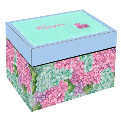 Lexington Studios Summer Hydrangea Large Recipe Box
