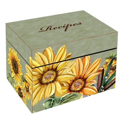 Sunflowers Large Recipe Box