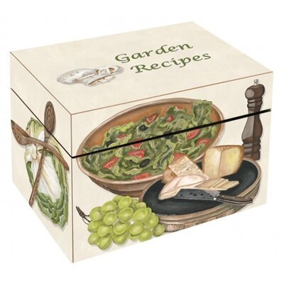 Garden Recipes Large Recipe Box