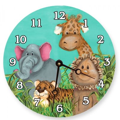 Zoo Animals Round Clock