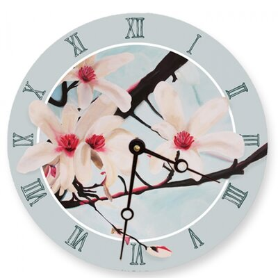 Lexington Studios Pink Magnolias Round Clock