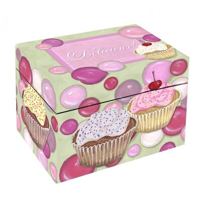 Lexington Studios Cupcake Recipe Box