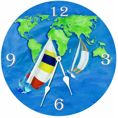 Summer Sail Round Clock