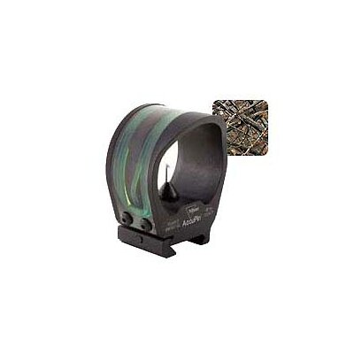 AccuPin Dual Illuminated Bow Sight Green Triangle with Rail Grabber Base in Lost Camo