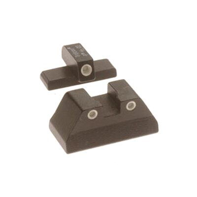 H and K 3 Dot Green Front and Rear Night Sight Set