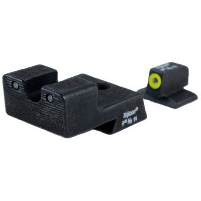 Colt Cut HD Night Sight Set with Yellow Front Outline