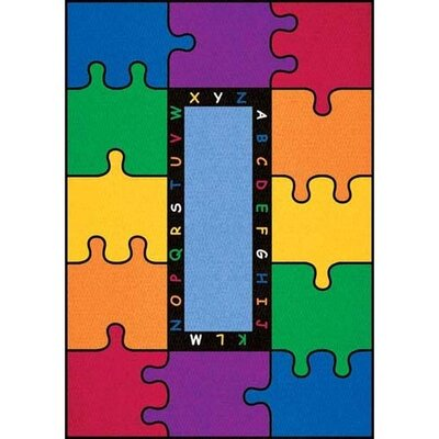 Learning Carpets Cut Pile ABC Puzzle Kids Rug