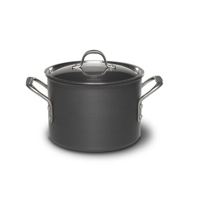 Commercial Hard Anodized 6-qt. Stock Pot with Lid