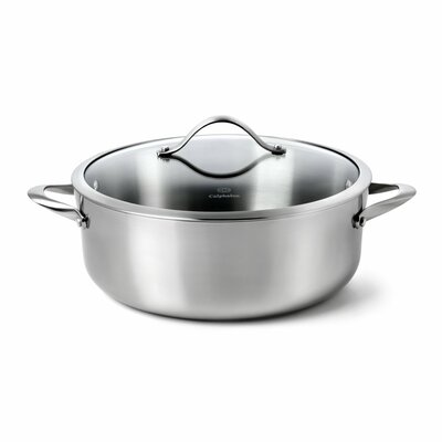 Contemporary Stainless Steel 8-qt. Dutch Oven