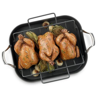 "Calphalon Unison Nonstick 16"" Roaster with Rack"