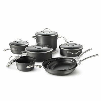 Contemporary Nonstick 12-Piece Cookware Set