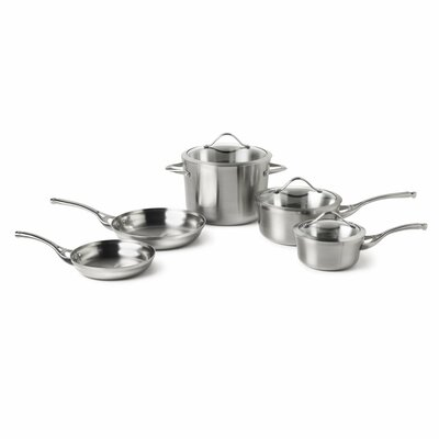Contemporary Stainless Steel 8-Piece Cookware Set