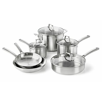 Calphalon Stainless Steel 10-Piece Cookware Set
