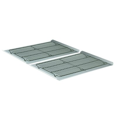 Calphalon Nonstick 4-Piece Large Cookie Sheet and Cooling Rack Set