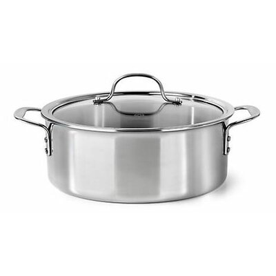 Calphalon Try-Ply Stainless Steel 5-qt. Aluminum Round Dutch Oven