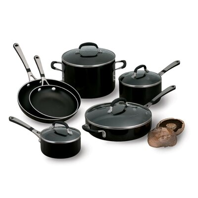Calphalon Simply Black Enamel 10-Piece Cookware Set