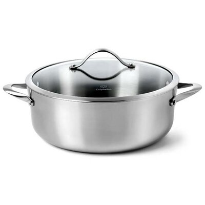Calphalon Contemporary Stainless Steel 8-Qt. Round Dutch Oven