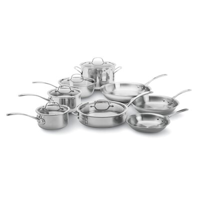 3-Ply Stainless Steel 13-Piece Cookware Set