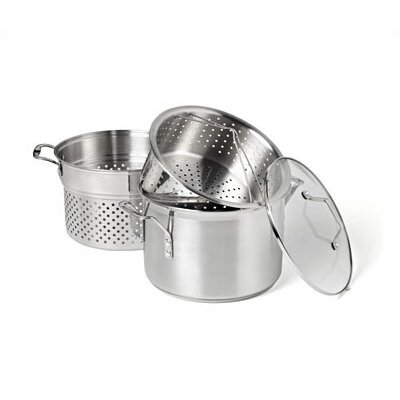 Calphalon Simply Stainless Steel 8 Quart Multi-Pot with Steamer and Pasta Insert