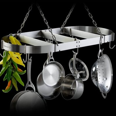 Accessories Oval Hanging Pot Rack
