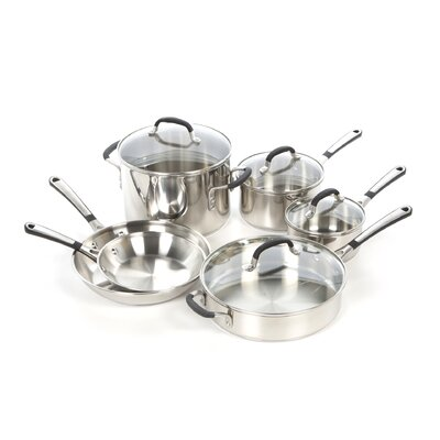 Calphalon Simply Stainless Steel 10-Piece Cookware Set