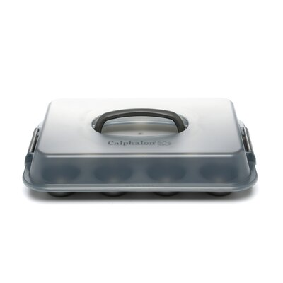 Nonstick 12 Cup Covered Cupcake Pan