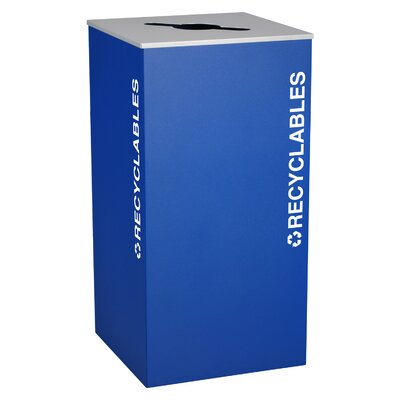 Ex-Cell Kaleidoscope XL Series Indoor 36 Gallon Industrial Recycling Bin
