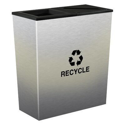 Ex-Cell Metro Indoor 18 Gallon Multi Compartment Recycling Bin