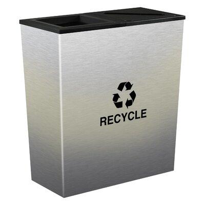 Ex-Cell Metro Indoor 18 Gallon Multi Compartment Recycling Bin